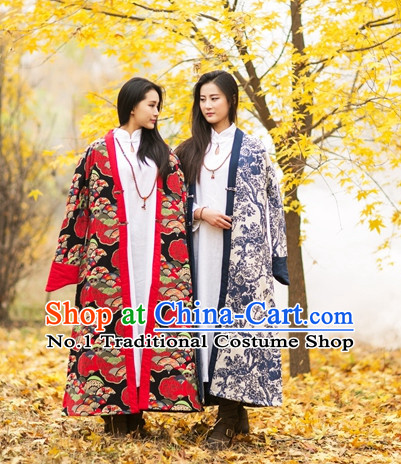 Chinese Traditional Mandarin Long Jacket for Women