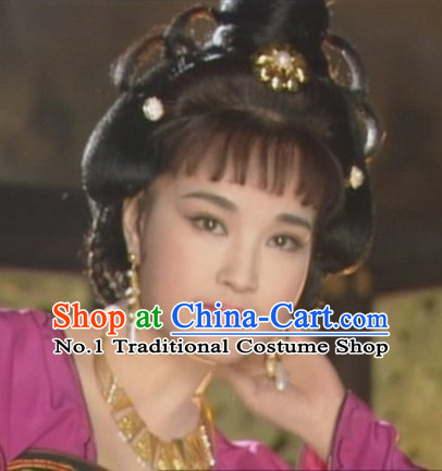 Handmade Chinese Palace Princess Wigs and Hair Accessories