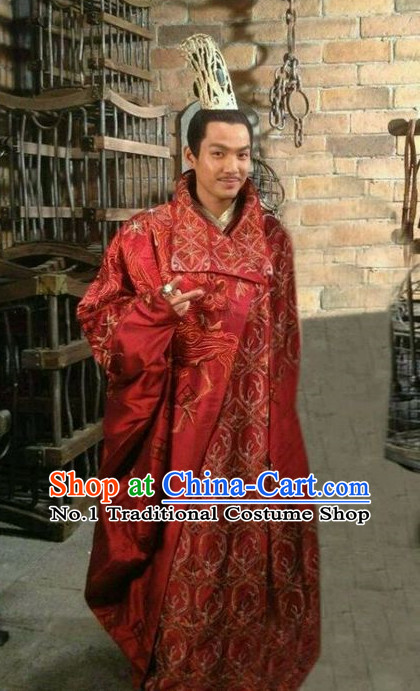 baff7aa8f Traditional Chinese Emperor Wedding Dress and Coronet Complete Set for Men