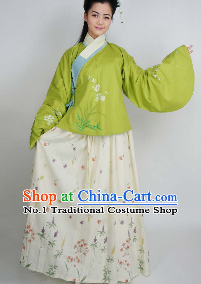 Ancient Chinese Female Clothes Complete Set