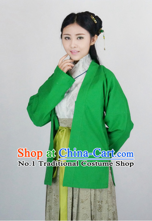 Ancient Chinese Female Han Fu Gu Zhuang Clothing Complete Set
