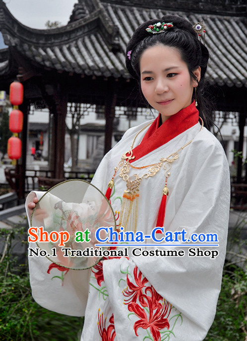 Chinese Traditional Hanfu Clothes Complete Set for Women