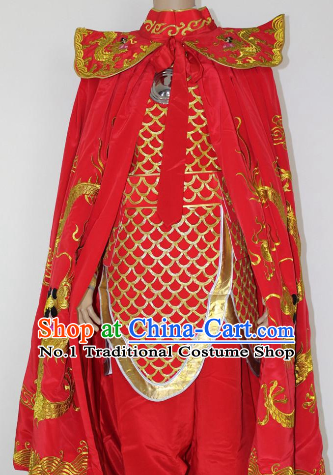 China Emperor Costumes and Mantle Complete Set for Men
