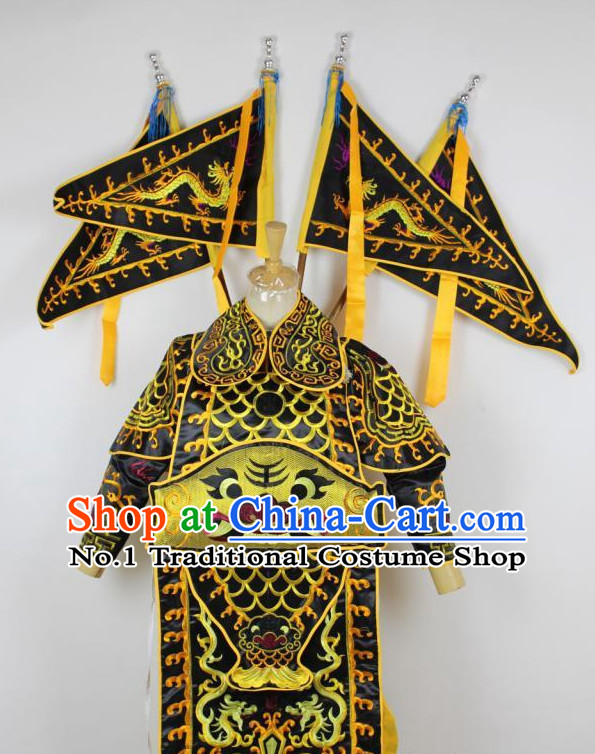 Chinese Ancient General Armor Costumes Complete Set for Kids