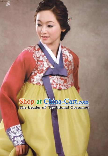 Top Korean Modern Hanbok Wedding Ceremony Dresses for Women Mother
