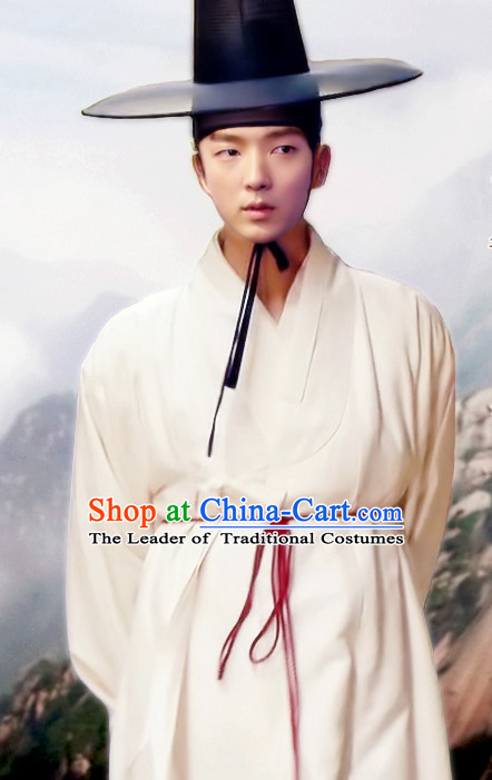 Ancient Korean Han Bok Robes and Hat Complete Set for Men