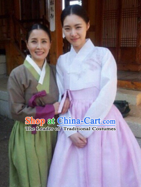 Korean Hanbok Top and Skirt Complete Set for Girls