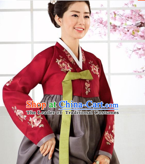 Korean Classic Han Bok Garment and Hair Accessories Complete Set for Women