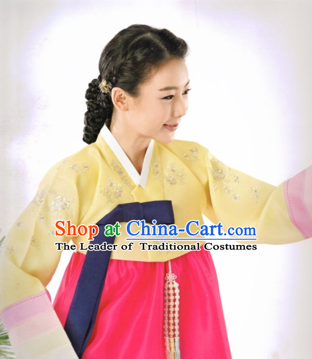 Plus Size Korean Fashion Hanbok Dresses Complete Set for Women