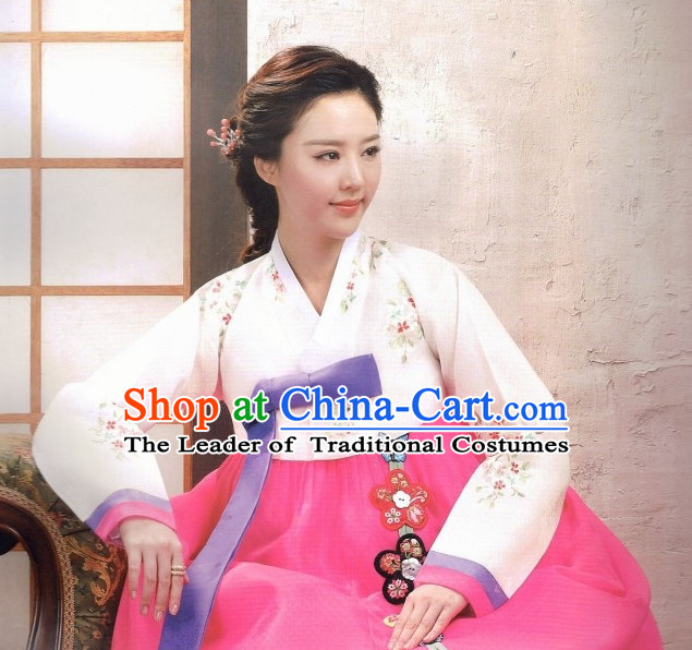 Classic Korean Fashion Hanbok Dresses Complete Set for Women