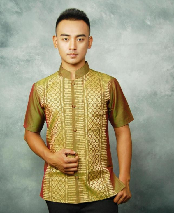edf0a1bf1d2 Traditional Thailand Customs Thai Shirt for Men