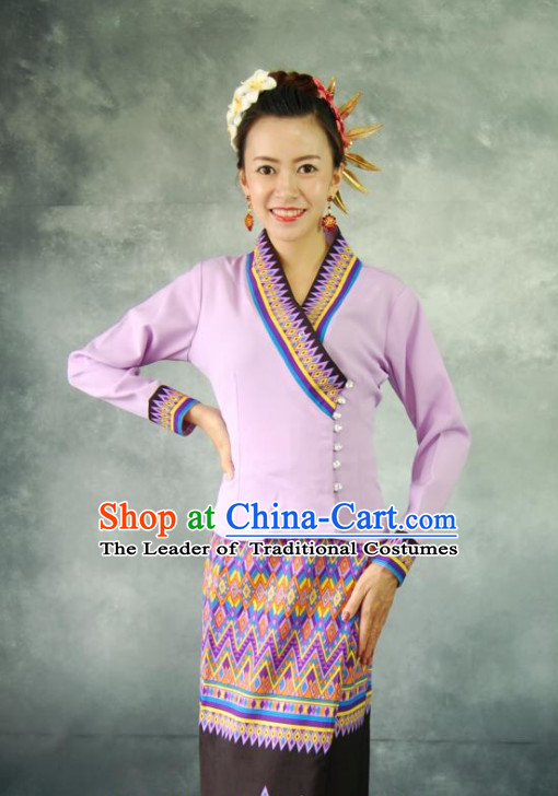Thailand Traditional Dresses Complete Set for Women