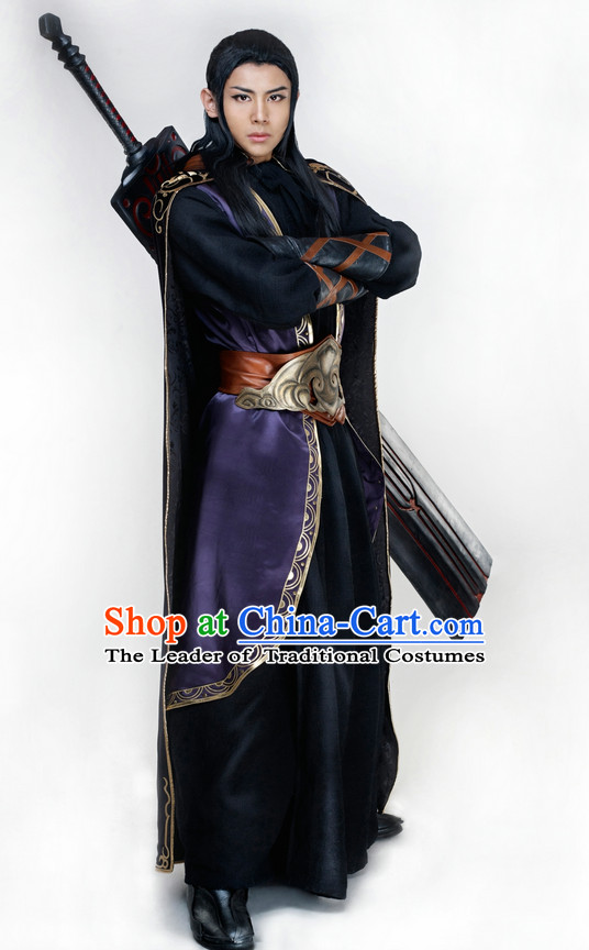 Black Chinese Cosplay Superhero Costume Complete Set for Men