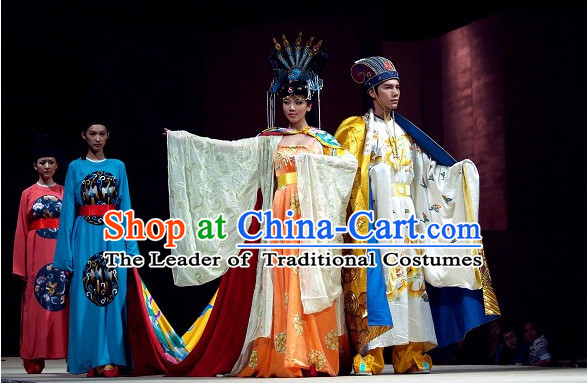 Emperor and Empress Costume and Hats 2 Sets