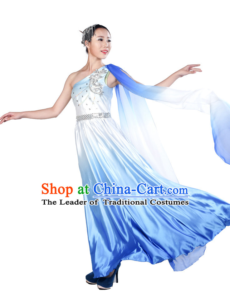 lyrical style color transition dance costume