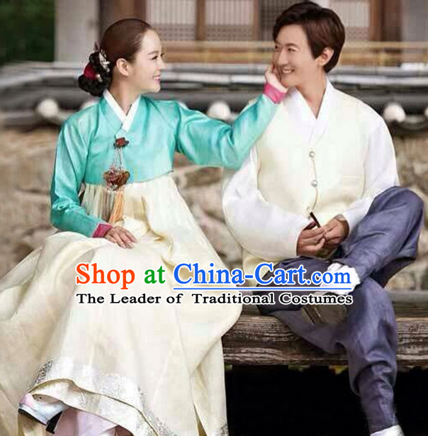 Korean Husband and Wife Hanboks 2 Sets