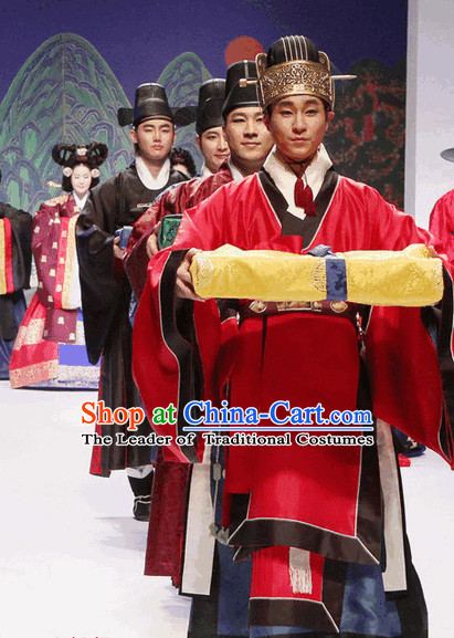 Ancient Korean Official Clothing and Hat Complete Set for Men