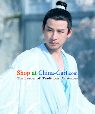 Ancient Chinese Young Men Black Wigs