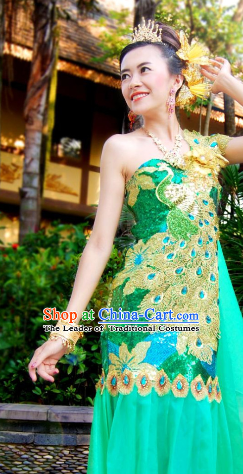 Top Traditional Thailand Classicial Dress Plus Size Clothing Formal Suit online Clothes Shopping
