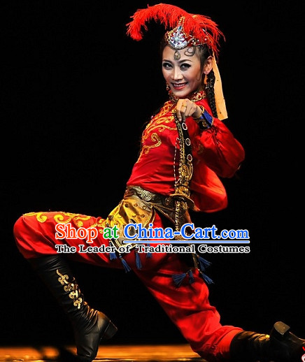 Chinese Ethnic Dance Woman Costume