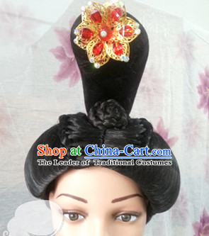 Chinese Ancient Lady Hair extensions Wigs Fascinators Toupee Hair Pieces Long Wigs