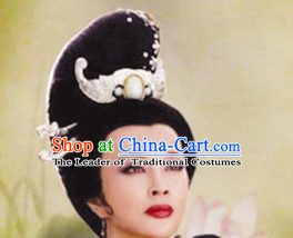 Chinese Ancient Queen Lady Hair extensions Wigs Fascinators Toupee Long Wigs Hair Pieces and Accessories