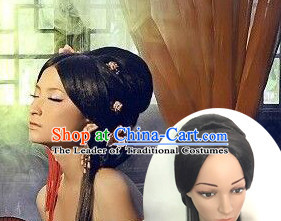 Chinese Tang Dynasty Princess Lady Hair extensions Wigs Fascinators Toupee Long Wigs Hair Pieces