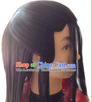Chinese Ancient Male Yang Guo Black Long Wig
