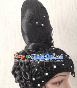 Chinese Classical Black Women Opera Wigs for Women