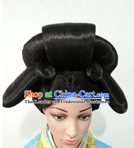 Chinese Classicial Wigs Hair Extensions Lace Front Wig Hair Pieces for Ladies
