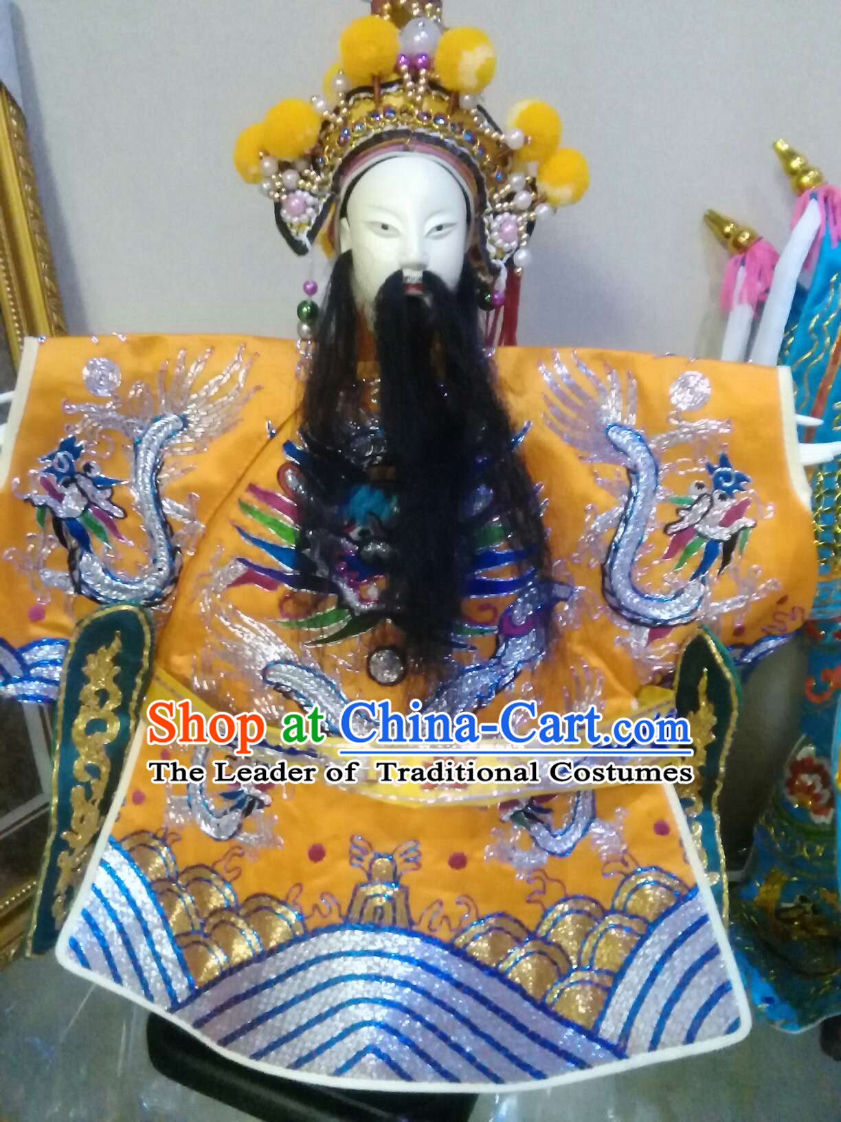 Top Master Made Hands Embroidered Chinese Ancient Emperor Puppet