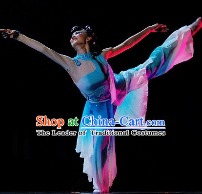 Chinese Quality Classic Dance Costumes and Headwear Complete Set for Women