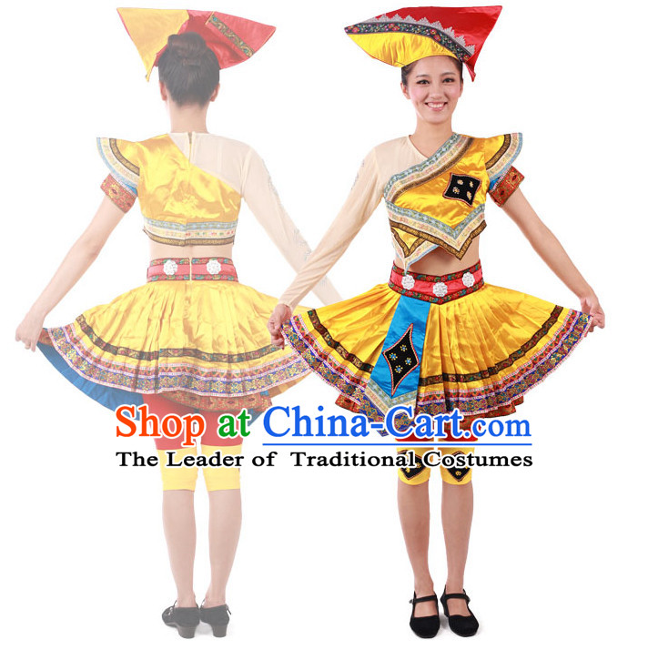Chinese Teenagers Ethnic Dance Costume for Competition