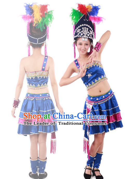Chinese Teenagers Minority Dance Costumes for Competition