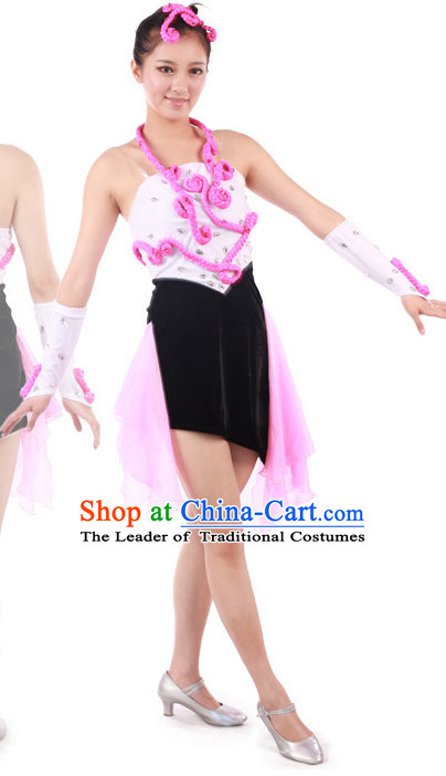 Chinese Teenagers Folk Dance Uniform for Competition