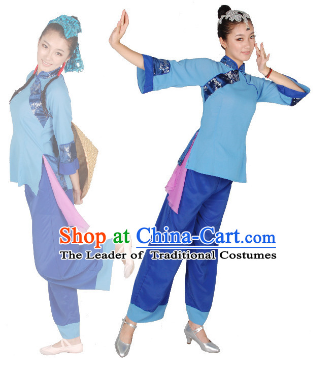 Chinese Teenagers Folk Dance Costume for Competition