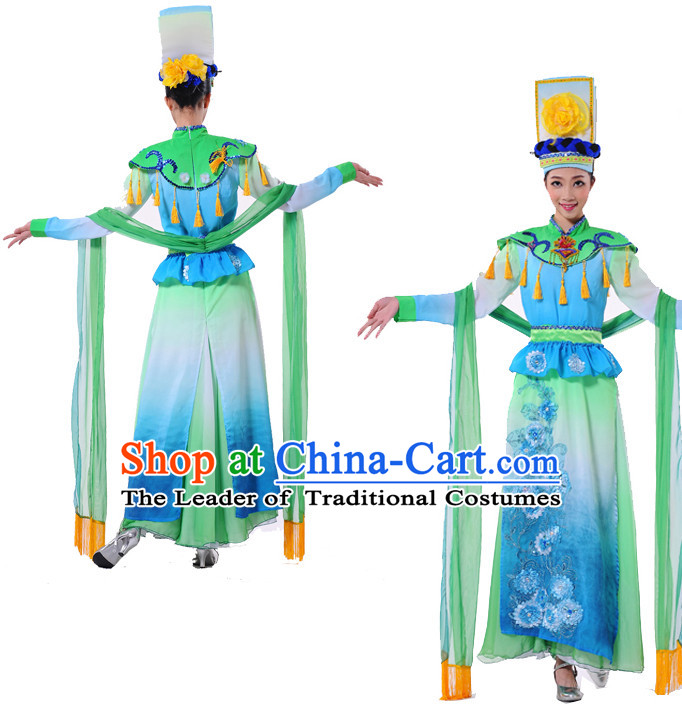 Chinese Folk Ethnic Dance Costume Complete Set