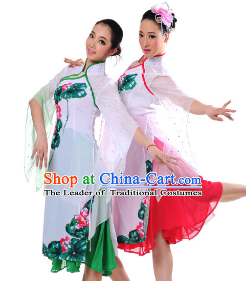 Chinese Girls Lotus Dance Costumes Dancewear Discount Dane Supply Clubwear Dance Wear China Wholesale Dance Clothes