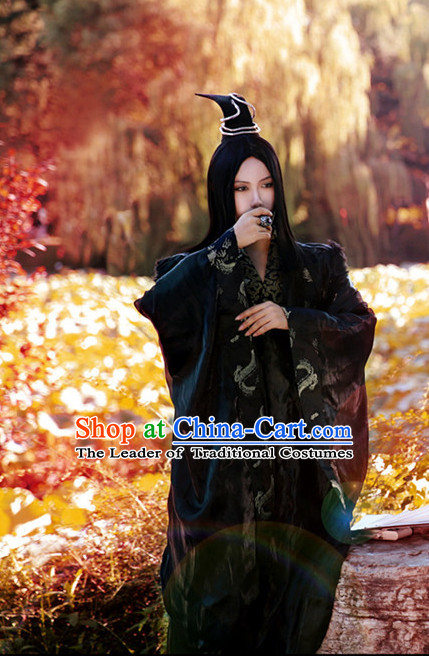 Black Halloween Costumes Chinese Cosplay