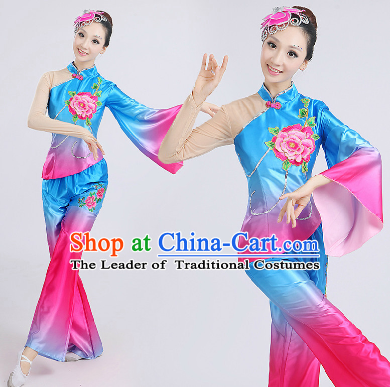 Chinese Blue Dance Costumes Costume Discount Dance Costume Gymnastic Leotard Dancewear Chinese Dress Dance Wear