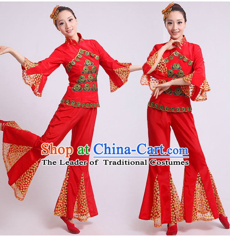 2028c44e3fe7 China Peacock Dance Outfit and Headwear Complete Set for Women