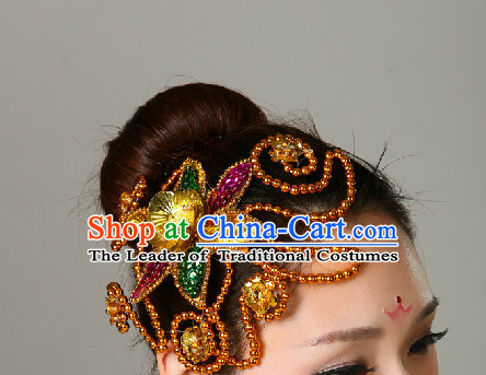Asian Folk Dance Hair Accessories