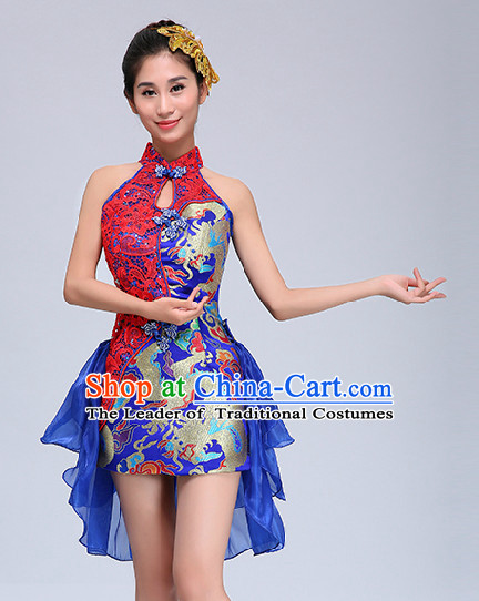 Chinese Competition Dance Costume Group Dancing Costumes for Women