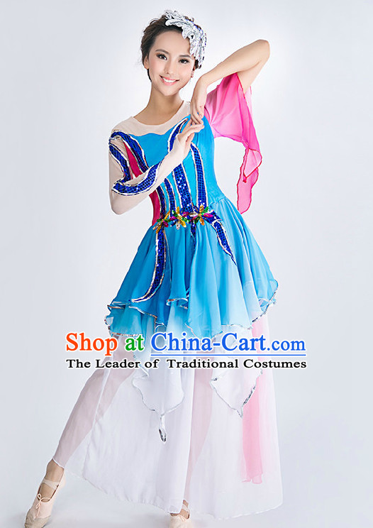 Chinese Classic Competition Dance Costume Group Dancing Costumes for Women