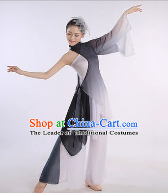 Color Transition Chinese Classic Competition Dance Costume Group Dancing Costumes for Women