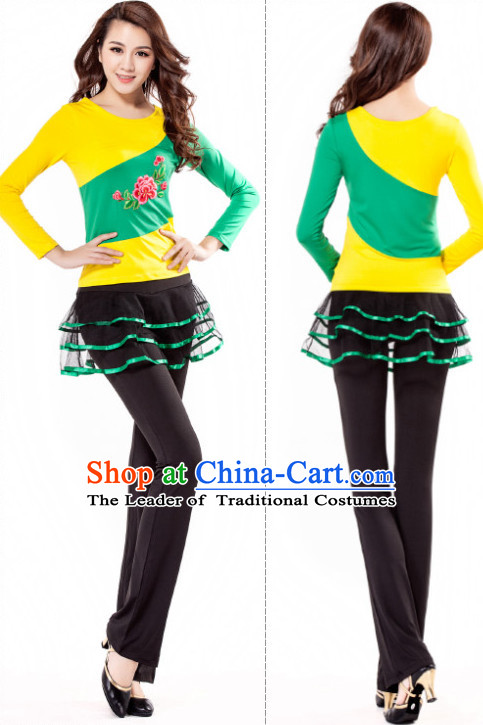 Chinese Style Modern Dance Costume Ideas Dancewear Supply Dance Wear Dance Clothes Suit
