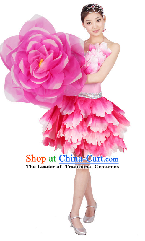 Chinese Style Parade Flower Dance Costume Ideas Dancewear Supply Dance Wear Dance Clothes Suit