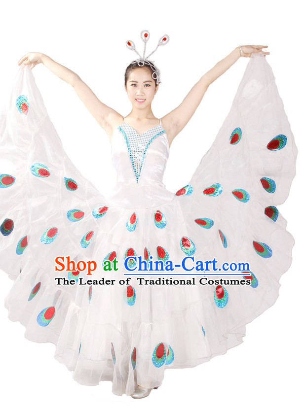 Chinese Style Parade Peacock Dance Costume Ideas Dancewear Supply Dance Wear Dance Clothes Suit