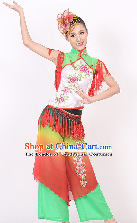 Chinese Classical Fan Dance Costume Ideas Dancewear Supply Dance Wear Dance Clothes Suit