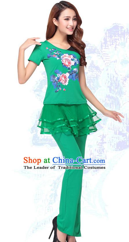 b97708c0e7c2 Chinese Style Modern Gymnastics Costume Ideas Dancewear Supply Dance Wear  Dance Clothes Suit